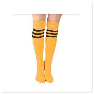 Yellow Knee-hi Sports Socks